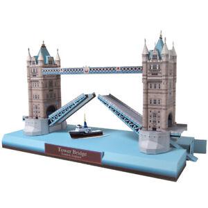 3D Paper Model London Tower Bridge England Architecture Building Puzzle DIY Gift