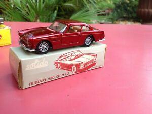 Solido  Réf 123 FERRARI 250 GT 2+2 Mint in box scarce neuf en boite d'origine
