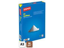 1 BOX 2500 FOGLI 5 RISME a3 Laser Fotocopiatrice Stampante a Getto D'inchiostro Carta Bianco 80gsm +24h