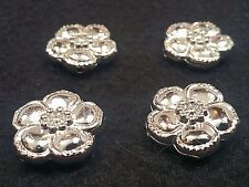 CCB Acrylic Beads, Flower, Nickel Color, Size: about 24x8x8mm, Hole 3mm Qty 4