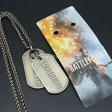 Hot Game Jewelry Battlefield 1 Metal Dog Tags BF1 Necklace Snap Chain Pendant
