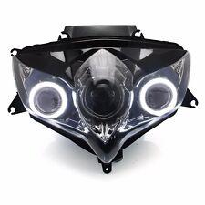 KT LED Angel Eye HID Headlight Assembly for Suzuki GSX-R750 GSXR750 2008 09 2010