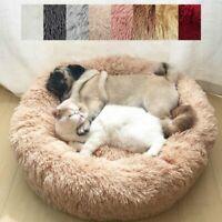Pet Dog Cat Calming Bed Round Nest Warm Soft Plush Sleeping Comfy Flufy Hot Gift