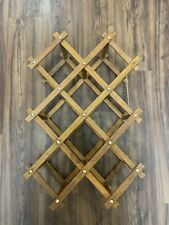 New listing Collapsible Vintage Style Wine Rack Accordion 10 Bottle