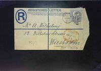 Great Britain 5c Jubilee on 1889 Registered Letter Cover to Germany