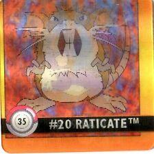 FLIPZ - POKEMON -Premier Edition- N° 35 #19 #20 RATICATE RATTATA