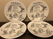 Disney Sketchbook Minnie Mouse Dinner Plates Set of 4 NEW