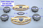 2011-2015 Fits Hyundai Genesis Coupe Gold Black Wing Emblemsteeringwheel Cap