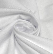 Plain White 100% Brushed Cotton Winceyette Flannelette *Per Metre