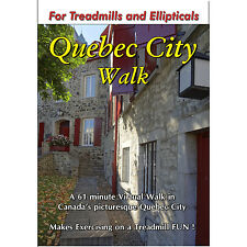 Quebec City Walking Tour Treadmill Dvd Scenery Video Exercise Weight Loss