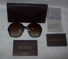 Gucci Sunglasses LOGO WHITE, GREEN, RED and brown Gradient Lens NEW