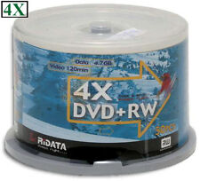 50-Pak Ritek/RIDATA 4X Logo-top DVD+RW Media in Cakebox