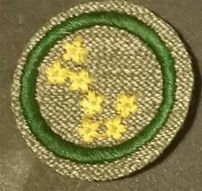 1933-1936 Girl Scout Badge SWIMMER- GREY GREEN ROUND