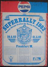 Poster Plakat PEPSI Superralley Harley Davidson 1982 auf Pappe aufgezogen