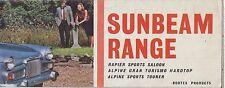 SUNBEAM ALPINE SERIES II & RAPIER SERIES IV ORIG 1963 FACTORY UK SALES BROCHURE