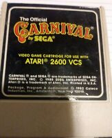 THE OFFICAL CARNIVAL FOR ATARI 2600 SEGA FREE SHIPPING RARE