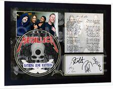 new Metallica - Nothing Else Matters SIGNED FRAMED PHOTO&CD Disc
