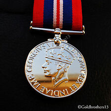 War Medal 1939–1945 Military Campaign Medal  Armed Forces & Merchant Navy Repro,