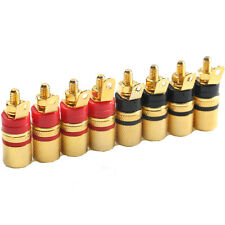 8PCS Speaker Spade Terminal Binding Post Banana Plugs Audio Socket Connector