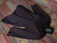 NEU Tunika Shirt 46/48 Ulla Popken Mille Fleurs Baumwolle Blau Rot-Braun 29,99€
