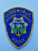 Vintage OLD Clovis Ca Gateway to the Sierras Police Cheese Cloth Patch 90's Used