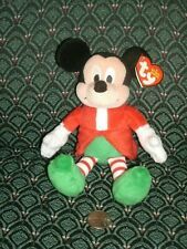 "Ty Beanie - the 6"" CHRISTMAS MICKEY - Walgreens Exclusive ~ 2012 ~ NEW ~ MWMT"