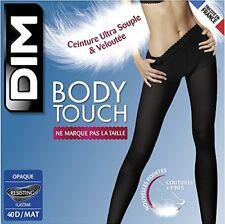 Collant Dim Body Touch Ceinture VELOUTEE Ultra souple Liberte et Douceur 3 40 D Noir