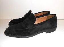 Salvatore Ferragamo Black Suede Slip On Men's Loafers SZ 8.5 2E
