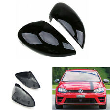 Gloss Black Rearview Mirror Cover Cap For Volkswagen VW Golf 7 MK7 R Gti 2014+