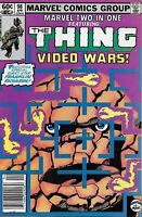 Marvel Two in One Comic Issue 98 Featuring The Thing Bronze Age First Print 1983