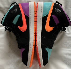 Nike Air Jordan 1 Mid PS Black Multi 640734-083 Youth Size 3Y