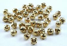6mm Tiny Miniature Gold Jingle Bells Craft Charms 100 Pieces