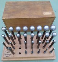 28 MAHO Kugellehre 3-31 mm Messkugel Meßdorn Prüfdorn Kugel Lehrdorn Konrolldorn