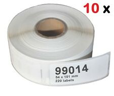 10 Pack 99014 Address Label 54x101 Compatible Dymo LabelWriter 400 450 Turbo Duo