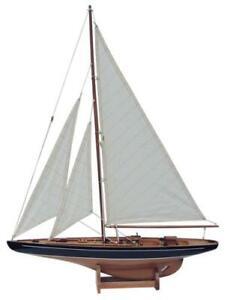 Segel-Yacht, Holz mit Stoffsegel, L: 60cm, H: 80cm