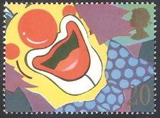 GB 1990 Smiles/Clown/Circus/Animated/Greeting/Animation 1v n31134