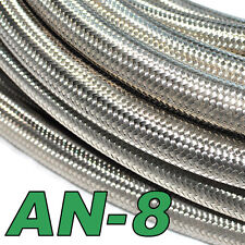 Stainless Steel Braided Hose (AN-8) Fuel/Oil/Water