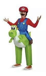 mario riding yoshi child inflatable costume super mario bros
