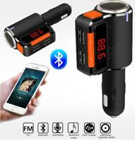 Bluetooth Car MP3 Player Cigarette Lighter Dual USB FM Socket Splitter Charger
