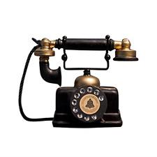 More details for garneck vintage telephone figurine retro phone model artist antique phone for