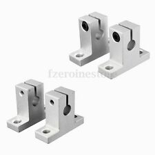 2pcs SK8 8mm Bearing CNC Aluminum Linear Rail Shaft Guide Support Bracket Step