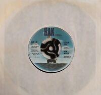 "New World-Sister Jane/First Steps 7"" Single.1972 RAK 130."