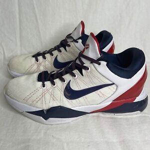 2012 Nike Zoom Kobe VII 7 System Olympic USA Sz 11 - White Obsidian - 488371 102