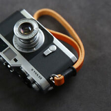 Handmade Brown Leather Camera Hand Wrist Strap for Leica Canon Sony Fuji 10mm