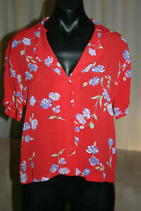 Wrangler Kokomo Shirt, Wild Flower, AU6, Red w/Flowers, NWT, Markdown, RRP$79.90