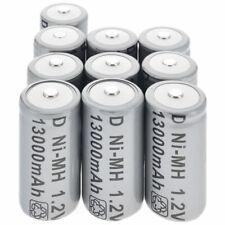 2-10pcs D Size D-Type 13000mAh 1.2V Ni-MH Rechargeable Battery Batteries USA