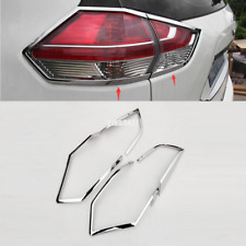 2014-2016 for Nissan Rogue X-Trail ABS Chrome Rear Tail Light Lamp Cover Trim *4