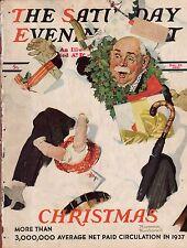 1937 Saturday Evening Post December 25-Norman Rockwell; Clarence B Kelland