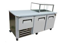 "Cooltech Two and Half Doors Low Boy and Salad Bar Combination 84"" Wide"