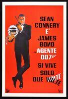 Werbeplakat 007 Ja Leben Solo Zwei Mal James Bond Sean Connery Kino Film Spy P01